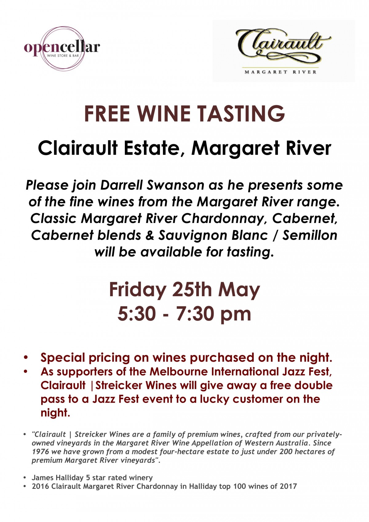 Clairault Tasting with Giveaway 250518 Lo Res
