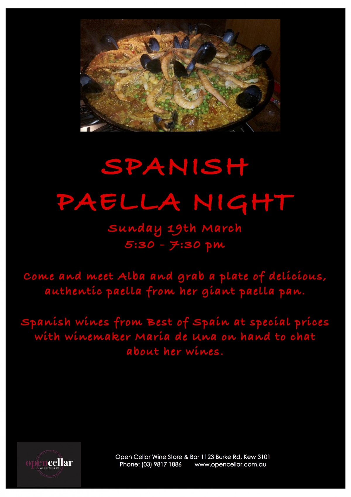 SPANISH Paella Night