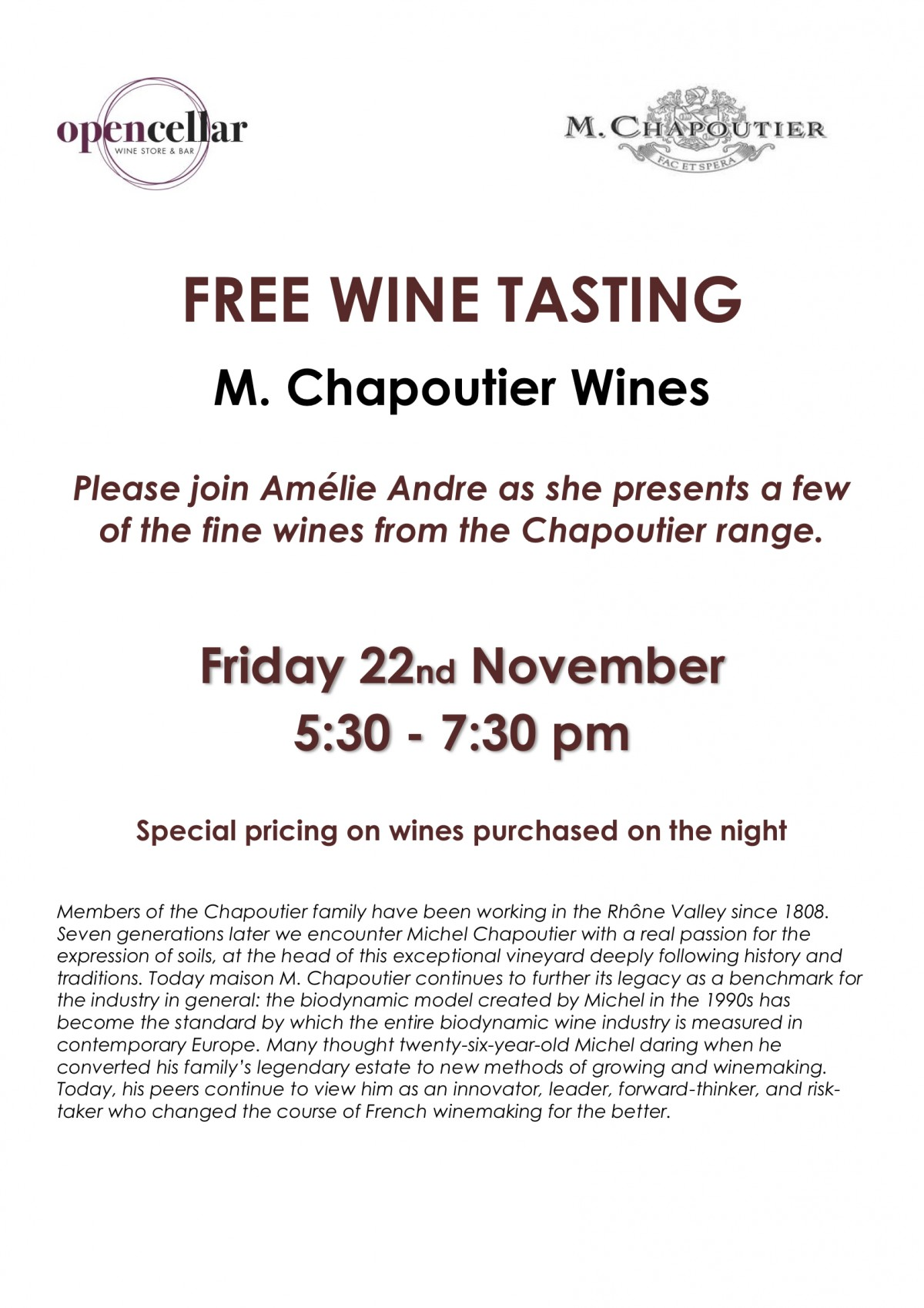 Chapoutier Tasting 221119